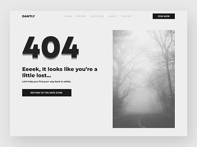 Dantly 404 UI Design 008 404 lost website design dailyui uidesign ui webdesign web figma