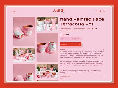 Juniper Shop Item Page store ecommerce dailyui012 012 dailyui uidesign ui webdesign web figma