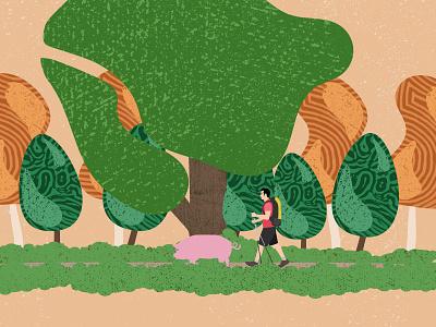Blue Pig Adventures Design design illustration
