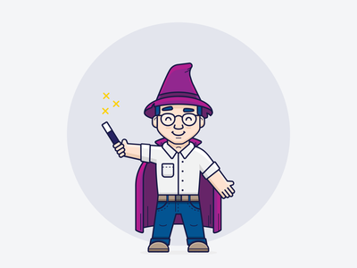 Ozzy development icon illustrator inspiration graphic design design inspiration design concept clean art illustration wizard vector ui minimal flat coding branding brand character