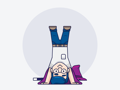 Ozzy // Headstand icon illustrator ui inspiration graphic design design inspiration design concept clean art yoga wizard vector minimal illustration flat coding branding brand character