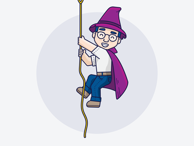 Ozzy // Climbing development icon illustrator inspiration graphic design design inspiration design concept clean art wizard vector ui minimal illustration flat coding branding brand character