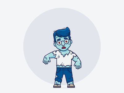 Ozzy // Zombie walking dead icon illustrator ui inspiration graphic design design inspiration design concept clean art wizard vector minimal illustration flat coding branding brand character