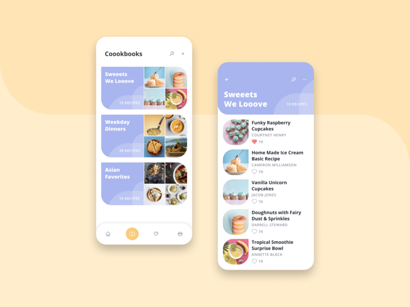 Coook cookbook ux design uxdesign ux ui ux ui design ui recipes recipe app recipe mobile app mobile kitchen inspiration foodie food cooking cook colourful color