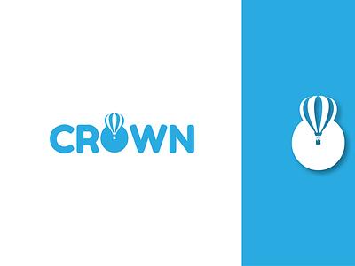 Crown Hot air balloon Company dailylogochallenge icon branding flat design logo