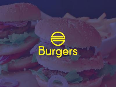 Burgers icon branding brand typography burger food logo