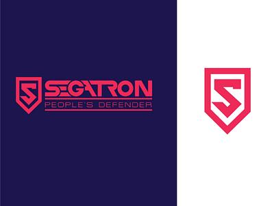 Segatron twitter nigeria illustrator security brand-identity concept segatron segalink brand logo