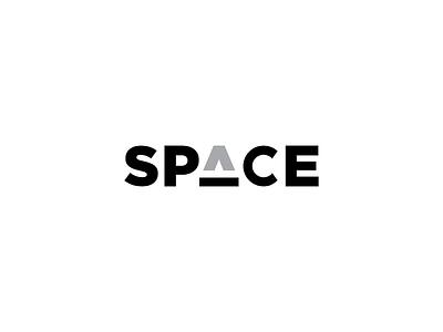 Space brand branding minimal flat vector design challenge illutrator typography wordmark logo space