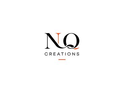 NQ Creations clean simple typography wordmark icon branding brand fashion illustrator design logo