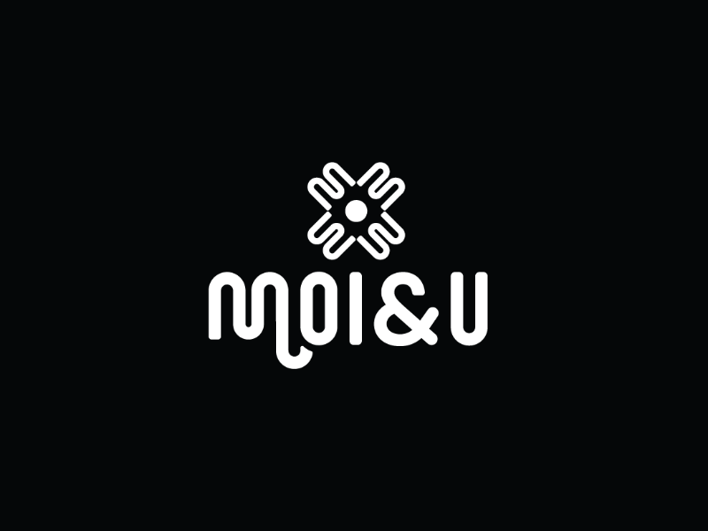 Moi & U fashion minimal flat ux typography logo branding design illutration icon