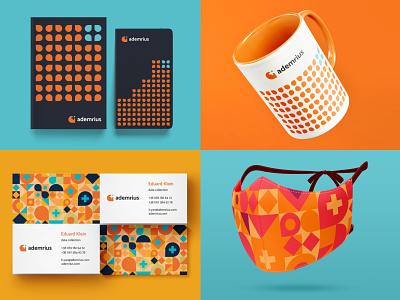 Ademrius — Logo & Branding medical service medical telemedicine healthcare graphic design flat logo vector icon design illustration typography branding