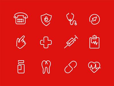 Branding Design for Lane Health posters telemedicine oneline illustration icon graphic design medical service medical branding lineart healthcare animation