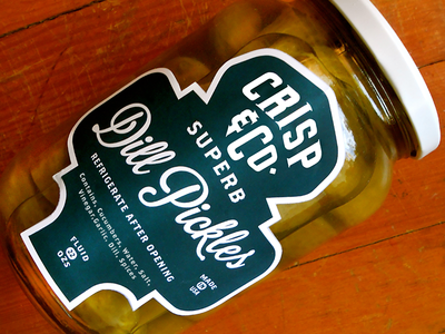 Crisp And Company Dill Pickles Label