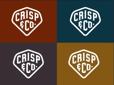 Crisp And Co Colors packaging label type pickle retro vintage crisp shape branding logo