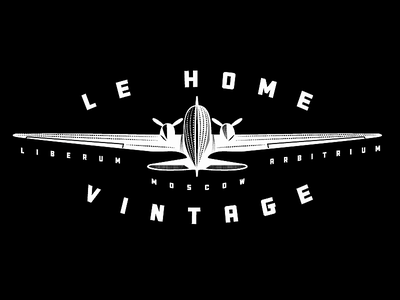 Le Home Vintage Plane dc3 aircraft logo vintage plane aviation retro