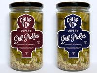 Crisp And Company Pickle Jars
