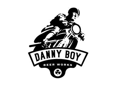Danny Boy Beer Works 2 beer logo brewery label retro vintage