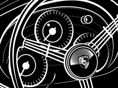 Porsche Dash Vector