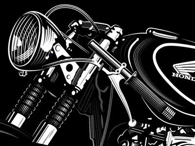 Honda Cafe Racer 4 motor racing honda cafe racer etching engravings
