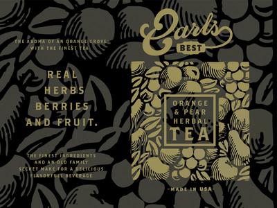 Earls Best Herbal Tea coffee cafe food pear orange packaging chai tea