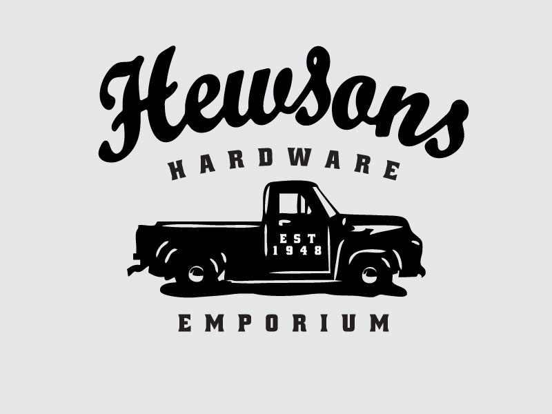 Hewsons Hardware pickup ford f-150 truck vintage retail hardware