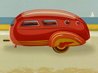 Streamliner At The Beach