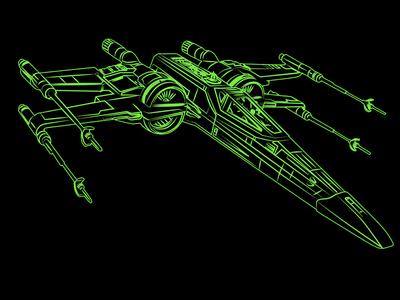 Xwing Wire Frame t-70 jedi luke skywalker yoda star wars xwing
