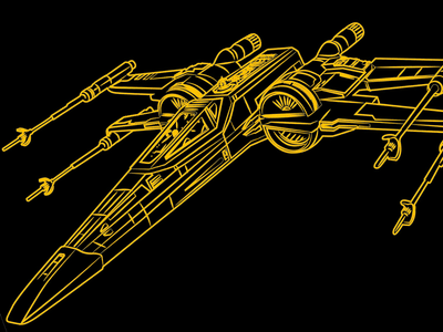New Xwing Fighter 2 starwars r2d2 jedi skywalker xwing star wars