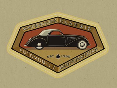 Waybridge Classic Auto automobile logo vintage retro