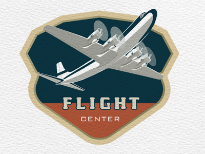 Flight Center flight center logo airplane aviation vintage retro
