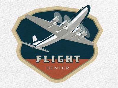 Flight Center flight center logo airplane aviation vintage retro