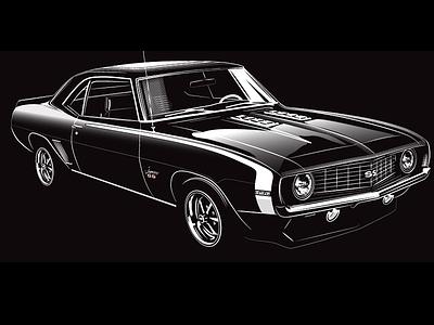 Bitchin Camaro muscle vintage classic cars american 1969 ss camaro