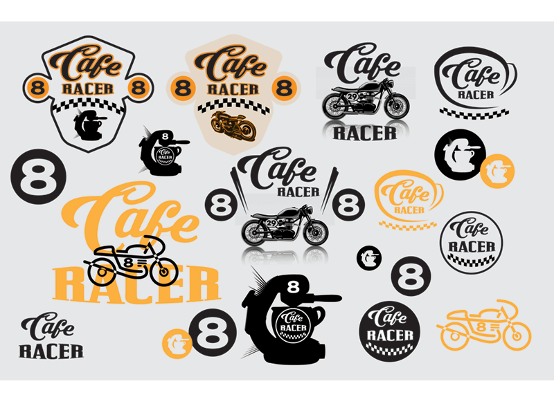 Cafe Racer Worksheet vintage motorcycle racer coffee cafe