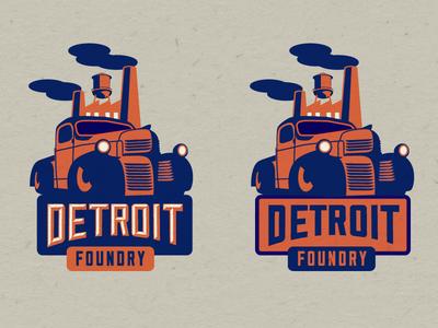 Detroit Foundry 2nd Concept hotrod vintage foundry detroit car truck
