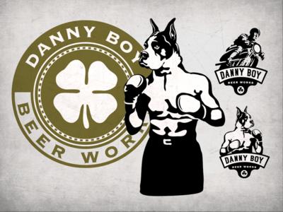 Danny Boy Beer Works motorcycle irish brewing bar beer dog boxer