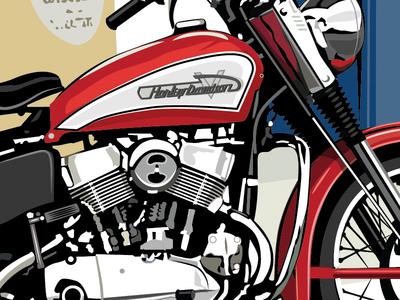 Barry'S Bike      1955 Harley KH 1955 kh harley davidson norton bsa triumph side car cafe vintage motorcycle