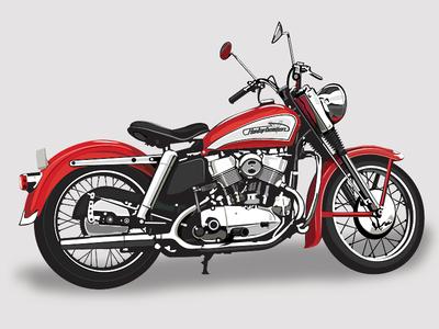 1955 Harley Davidson Kh 1955 kh motorcycle american vintage harley davidson