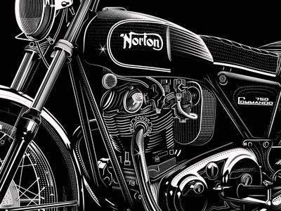 Norton Comando 6 1955 kh harley davidson norton bsa triumph side car cafe vintage motorcycle