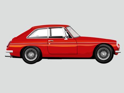 My 1973 Mgb Gt vintage car classic sports car british gt mgb mg