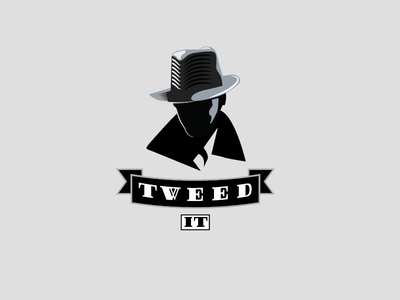 Tweed It Logo retro fedora private vintage computers detective agency it