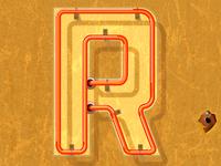 Neon R Textured