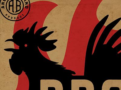 Bbq Chicken fuel farm vintage rooster chicken