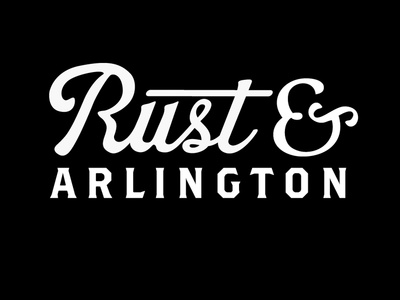 Rust and  Arlington label. clothing vintage script