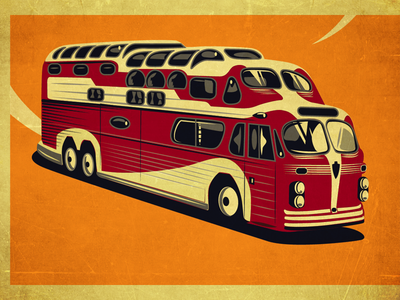 Camper Bus usa travel greyhound bus vintage trailer camper