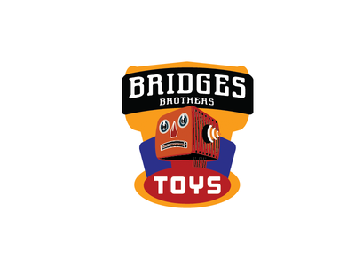 Bridges Brothers 124 toys. badge robot