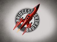 Bridges Brothers Toys Tasmania logo toys. vintage rocket