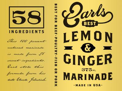 Earls lemon and ginger