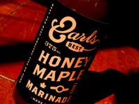 Earls Honey Maple Marinade Bottle