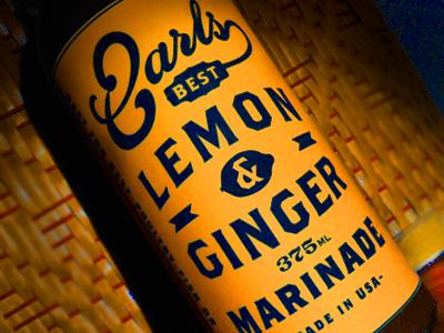 Earls Lemon   Ginger Marinade Bottle earls lemon and ginger label packaging bottle sauce vintage retro illustration diving helmet ale beer cool best tasty restaurant food