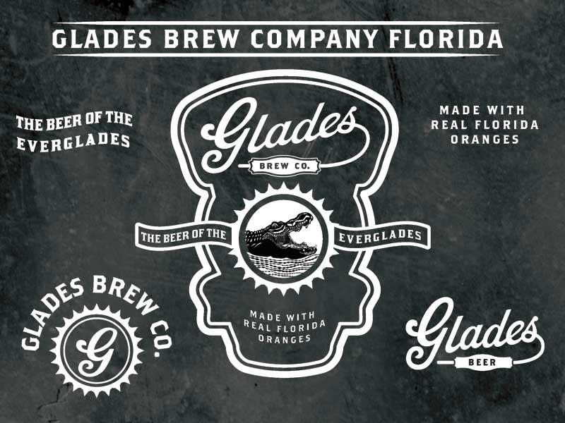 Glades Brew Company Identity beer brewing logo script vintage identity florida